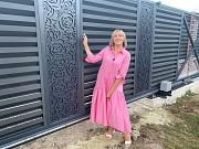 Оригінальний паркан — огорожа з декор вставкою від виробника Ужгород