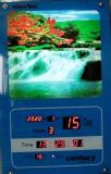 Картина водопад с подсветкой, звуком, временем, будильником. Сміла
