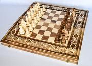 Шахмати, шашки і нарди 3 в 1. Гарний подарунок мужчині Яремче