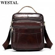 Мужская кожаная сумка барсетка Westal, имеется подарок. Енергодар