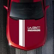 Наклейка на капот авто две полосы+WRC Київ