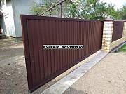Відкатні ворота з профнастилу Ивано-Франковск