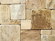 Плитка окатанная из песчаника природного Хрустальный