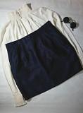 Пряма юбка красивого синього кольору H&M Мала Виска