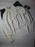 Ніжна, елегантна блуза з подовженою спинкою і резинками на рукавах H&M Мала Виска