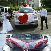 Шикарное украшение / оформление на свадебную машину, свадебное авто Житомир