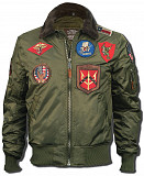 Бомбер Top Gun Official B-15 Flight Bomber Jacket with Patches (оливковый) Рівне