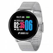 Смарт часы фитнес браслет Lemfo V11 Metal с тонометром и пульсометром Серебристый (738) Харків