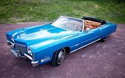 Ретро автомобиль Cadillac Eldorado голубой cabrio Київ