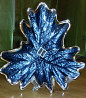 Ваза Argenesi Foglia Palm Leaf Glass 18см, посеребренная, Блюдо,Пальмовый лист, Италия Миколаїв