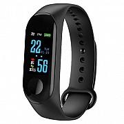Фитнес-браслет Adenki M3 с пульсометром, мониторинг сна и кислорода в крови, давление, Черный (30-59