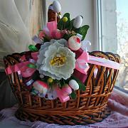 Цветочная композиция на Пасхальную корзину Херсон