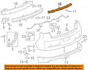 Крепление заднего бампера центральное Chevrolet Volt 11-15 22820091 Тернопіль
