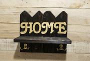 "Ключница-вешалка с полочкой ""Home"" из дерева Херсон"