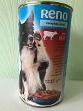 1240 г Мокрый ком для собаки консерва для собаки RENO влажный корм Мукачево