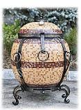 Купить тандыр для дома и дачи - Бочка утепленная в мозаике Ізюм