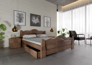 """Дерев""""яне ліжко 160*200+безкоштовна доставка Червоноград"""