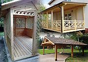 Дерев'яні споруди - виготовлення, монтаж, влаштування Киев