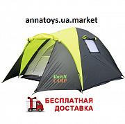 Палатка 3-х местная GreenCamp 1011-2, на 2 входа. Харків