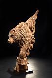 Скульптура ведмідь на деревяні сходи Різьблені балясини Резной столб Косів