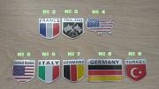 Наклейка на авто Флаги Стран алюминиевые Київ