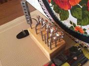 Комплект инструментов для изготовления цветов из ткани и кожи
