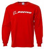 Реглан Boeing Long Slv Signature T-shirt (красный) Київ