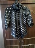 Шелковая блузка в горошек 46 р Гайворон