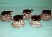 Набор: чашка кофейная (глина, керамика) -5шт., сувенир Миколаїв