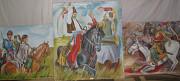 Триптих ( Картины на тематику Козацтво)на ДВП Теребовля