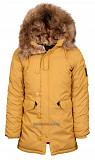 Зимняя женская куртка аляска Altitude W Parka Alpha Industries Tumbleweed (желтая) Луцьк