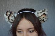 Леопардовые нэко ушки, кошачьи ушки, ушки на обруче. Київ