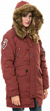 Женская зимняя куртка аляска Altitude W Parka Alpha Industries (красная охра) Львів