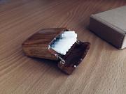 Портсигар из дерева на 20 сигарет King Size/Цвет натуральный/Лот №19 Козова