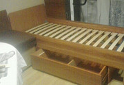 Ліжко 190 х 80 см, вільха ДСП , ламелі, викотна шухляда 160 х 70 см. Черкаси