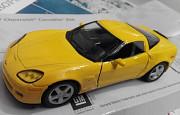 модель авто жёлтый 2007 Chevrolet Corvette Z06 Харків