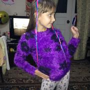 Свитер-травка на девочку рост 116 см Калинівка