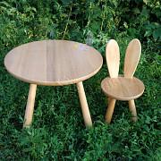 Набор Зайчата, детский столик и стульчик Зайчик, дитячий столик, дитячий стільчик Харків