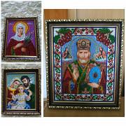 Ікони,вишиті чешським бісером Лубни