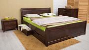 Нове букове двоспальне ліжко + 4 ящики Львів