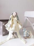 Набор Зайка с лошадкой, Тильда оригинальный подарок девушке дочке подруге день рождения декор сыну Полтава