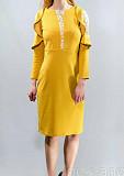 Елегантне нове гірчично—жовтого кольору плаття Луцьк