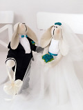 Пара заек Жених и Невеста, молодожены подарок на свадьбу декор девичник семья Тильда Свадебные Зайки Полтава