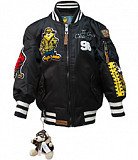 Детская летная куртка Kid's MA-1 Champs Bomber with hoodie (черная) Київ