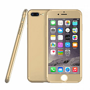 Чехол 360 Full Cover для iPhone 7 Plus Gold (PC-000380)