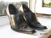 Туфлі шкіряні чорні Тисмениця