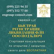 Быстрая регистрация, ликвидация ФЛП, ООО под ключ Харьков Харків