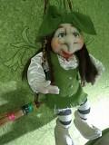 Кукла ручной работы баба Яга на метле Чернігів