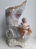 Ангелочек на голубе статуэтка-ваза Rudolstadt ! Ernst Bohne Söhne Германия 1854-1900 гг Львів