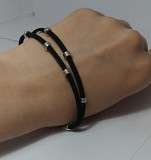 Замшевый браслет ручной работы Олександрія